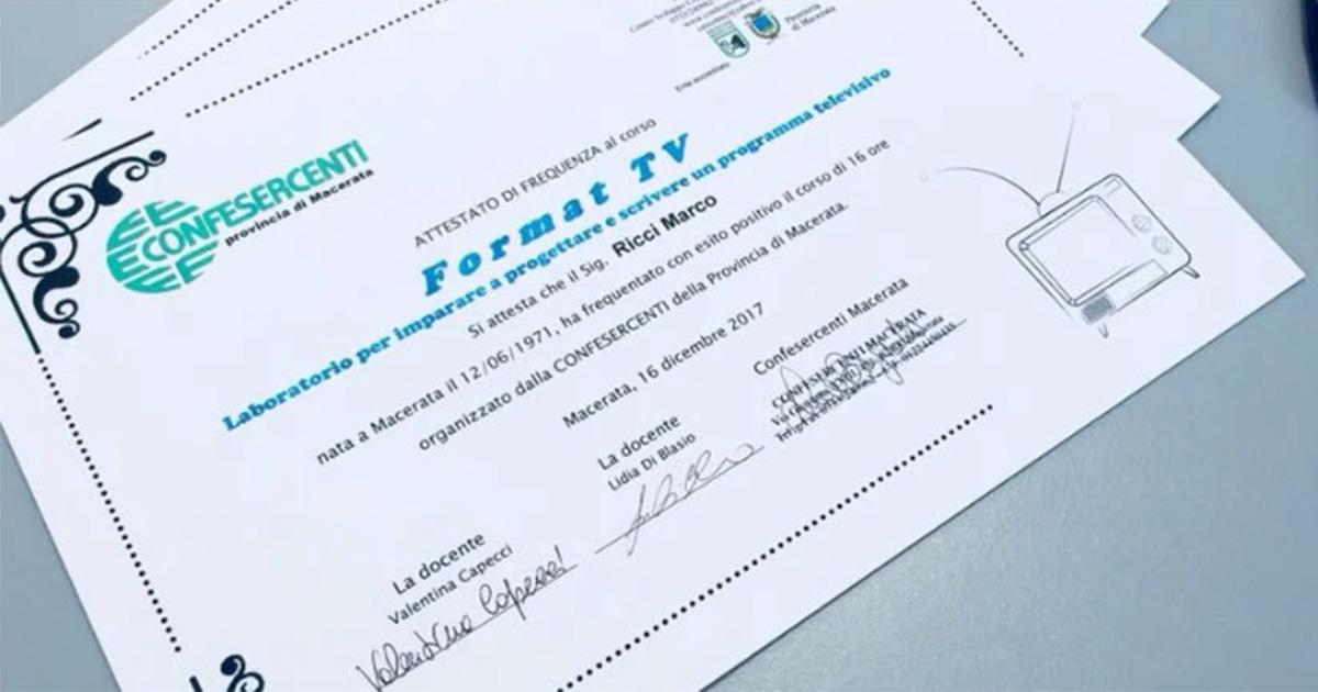 LIDIA DI BLASIO Presentatrice TV Corso Format TV